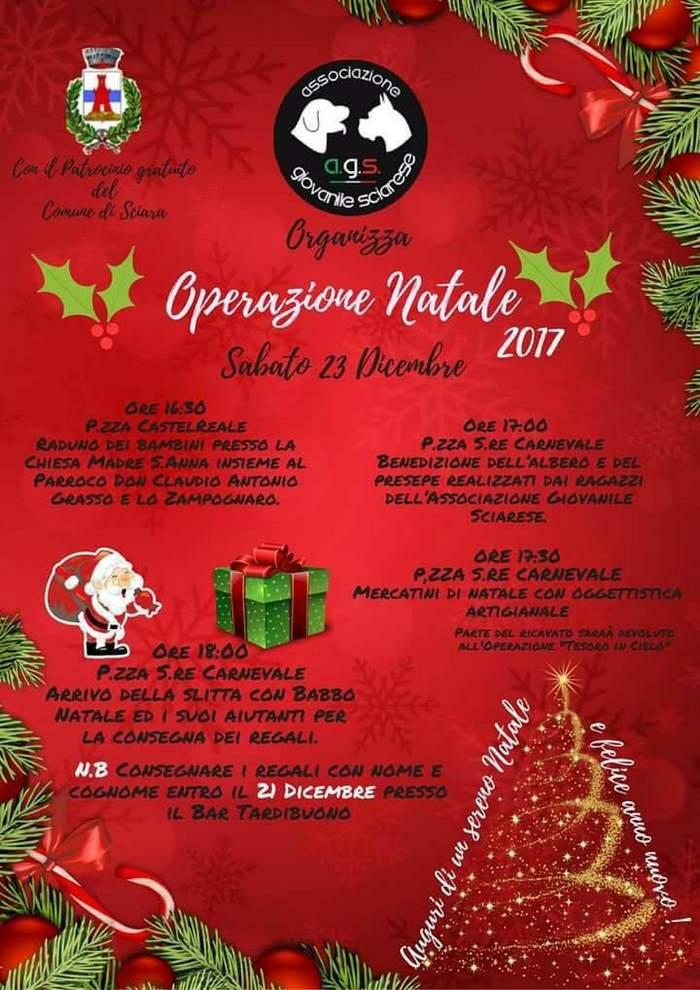 Operazione Natale 2017 a Sciara