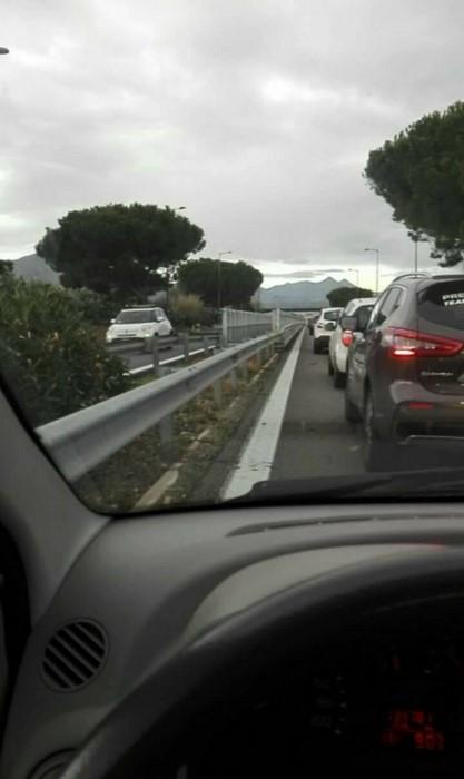 Segnalazione code in autostrada causa lavori in corso