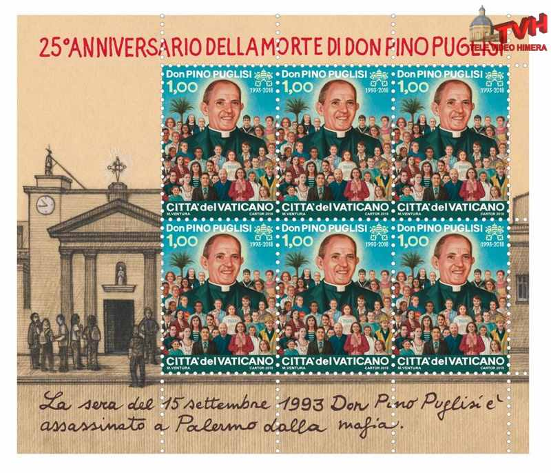 Francobollo commemorativo 25° della morte di Don Pino Puglisi