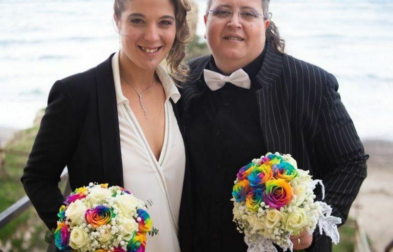 francesca e giada sposi