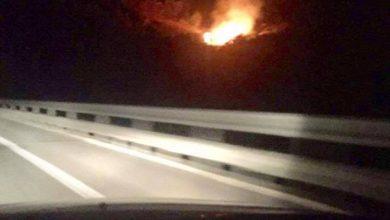 Segnalazione incendio sulla A19