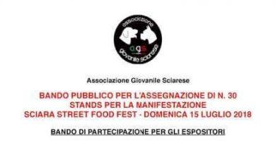 """Photo of Sciara, bando per l'assegnazione di stand espositivi per l'evento gastronomico """"Sciara,street food fest"""""""