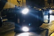 Photo of Termini Imerese: Una macchina cappottata in via Stesicoro
