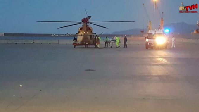 Photo of Atterraggio d'emergenza al porto di Termini Imerese