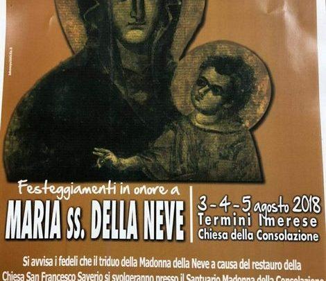 Photo of Termini Imerese, festeggiamenti in onore di Maria Ss. della Neve