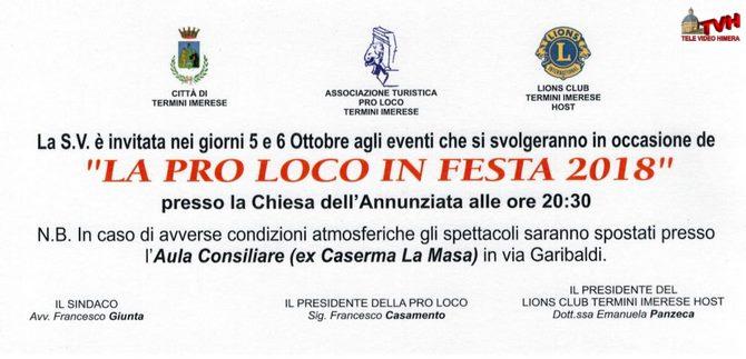 "Photo of Termini Imerese: ""Pro Loco"" in festa 2018"