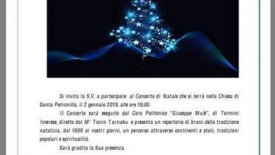 """Photo of Trabia: Concerto di Natale del coro """"Giuseppe Mulè"""" diretto dal M° Tonin Tarnaku"""
