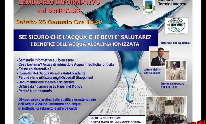 Photo of A Termini Imerese un seminario sui benefici dell'acqua alcalina ionizzata