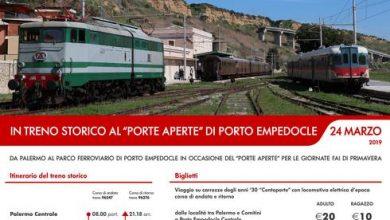 Photo of Un treno storico da Palermo a Porto Empedocle per le giornate FAI di Primavera