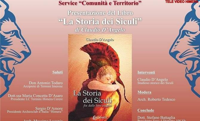 "Photo of Termini Imerese: Claudio D'Angelo, presenterà il libro ""La Storia dei Siculi"""