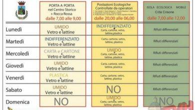 Photo of Termini Imerese: Calendario per lo smaltimento dei rifiuti