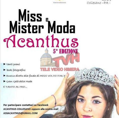 "Photo of Collesano: Tutto pronto per la quinta edizione di ""Miss e mister Acanthus"""