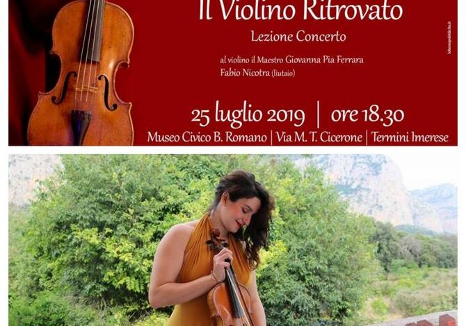 Photo of Termini Imerese: Torna a suonare il Violino Ritrovato