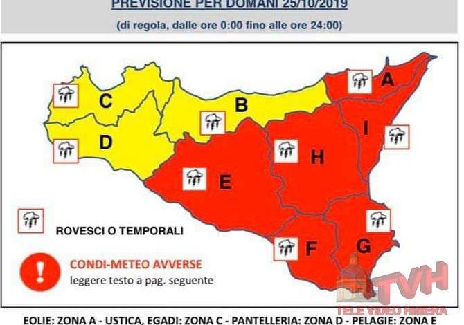 Photo of Meteo: Maltempo, allerta rossa in Sicilia. Temporali e rovesci nel sud-est