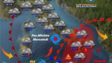 Photo of Meteo: In arrivo vortice depressionario di origine ciclonica su Sicilia e Calabria