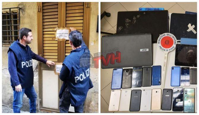 Photo of Palermo: Scovato un deposito di cellulari e supporti informatici rubati