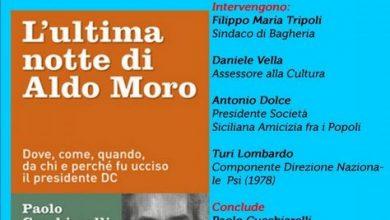 """Photo of Bagheria: Presentazione de """"L'ultima Notte di Aldo Moro"""" di Paolo Cucchiarelli"""
