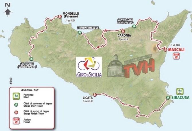 Cartina Sicilia Termini Imerese.Ciclismo Il Giro Di Sicilia Fa Tappa A Termini Imerese E Cerda Televideo Himera