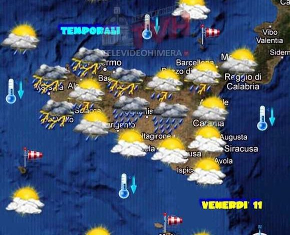 Photo of Meteo: Forte instabilità oggi in Sicilia soprattutto sui versanti tirrenici e interni