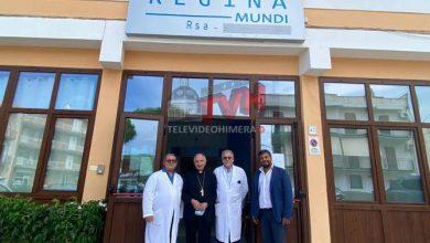 """Photo of Pollina: S. E. Mons. Silvano Tomasi in visita alla RSA """"Regina Mundi"""""""